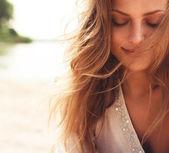 portrét krásnou dívku detail