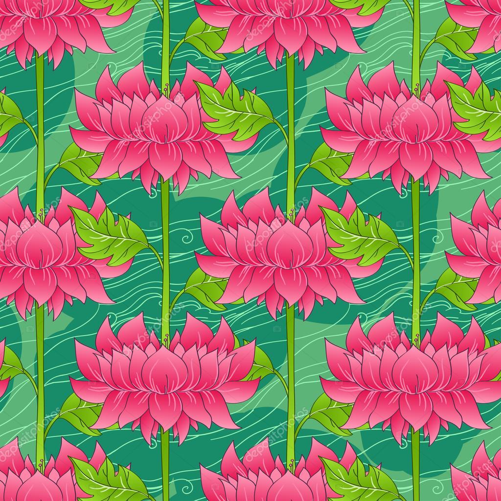 Floral lotus flower pattern