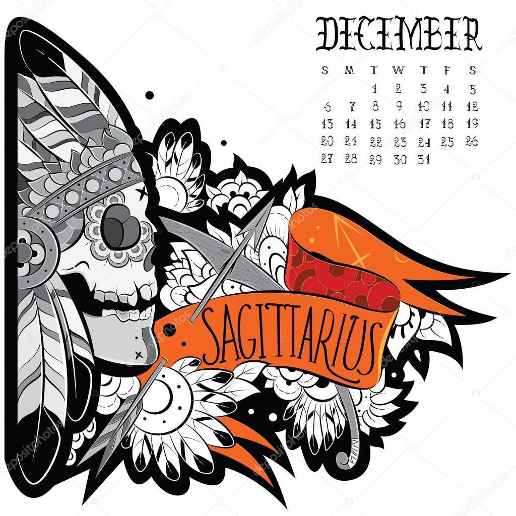 aa56c8b4fb9d7 Sagittarius tattoo — Stock Vector © Helen_Adamova #61901317