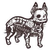 Fotografia bulldog francese vettoriale