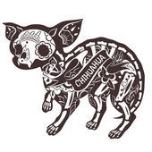 Fotografia Vettore floreale Chihuahua