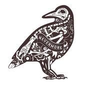 Fotografia Crow floreale vettoriale