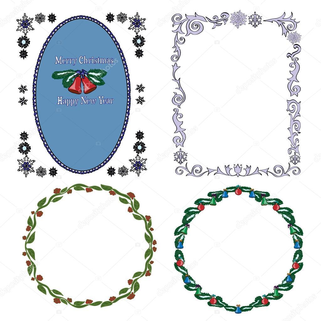 Conjunto de bordes decorativos vintage vector de stock for Conjunto de espejos decorativos