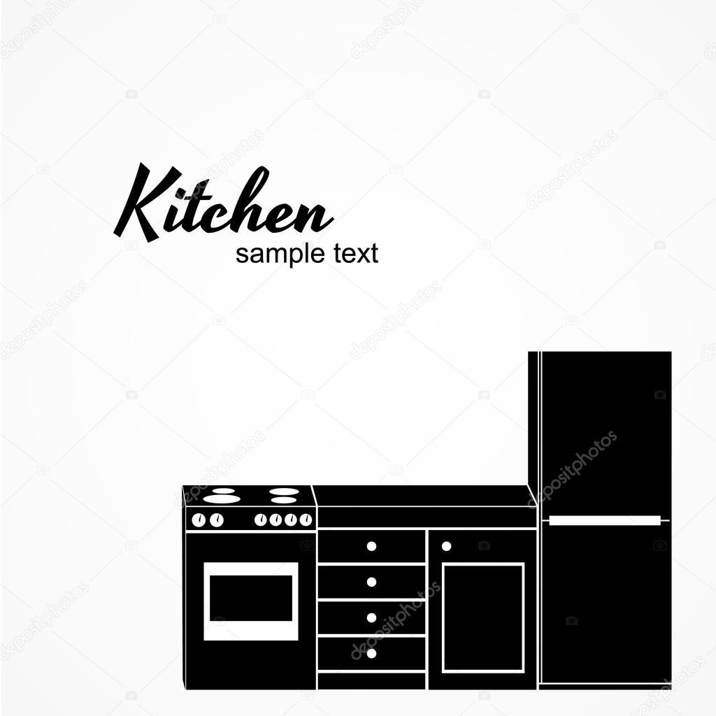 Kit mobili cucina — Vettoriali Stock © omioki23 #68203671