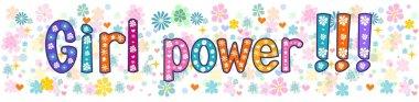 Girl power. Greeting Banner