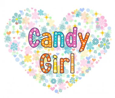 candy girl greeting card.