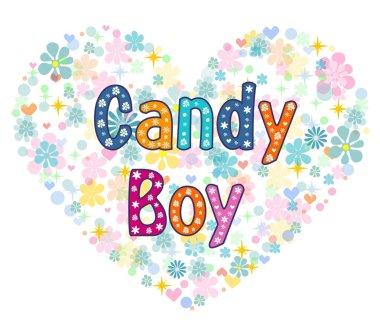 candy boy greeting card.