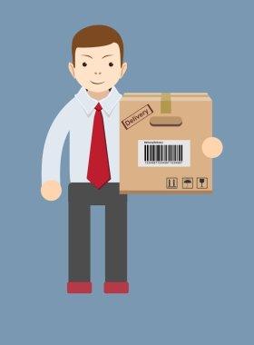Delivery man.Vector