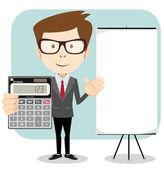 Fotografie Accountant with a calculator, vector illustration
