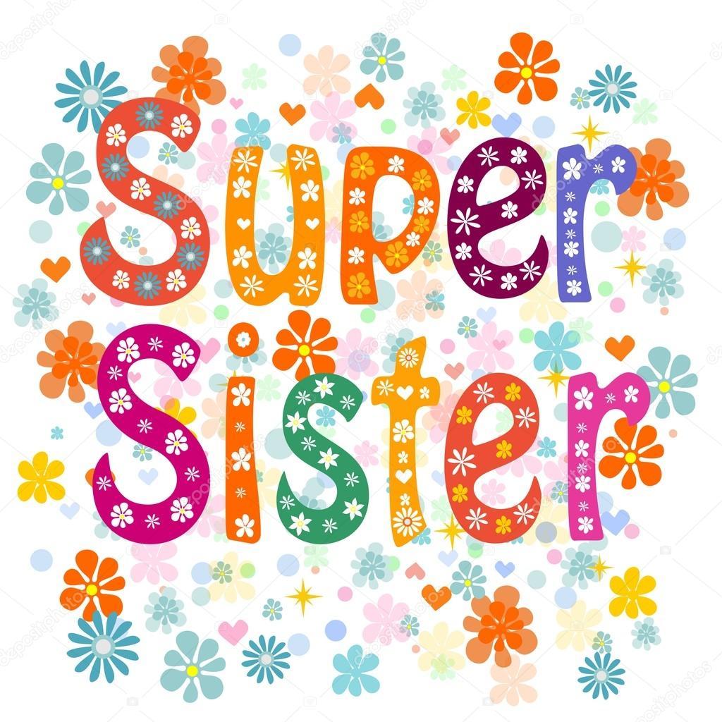 Super Zuster Verjaardag Stockvector C Aleksei Veprev 88496838
