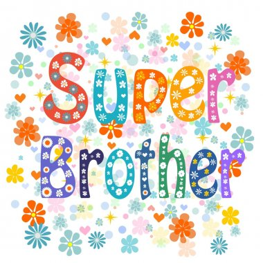 Super brother decorative lettering type