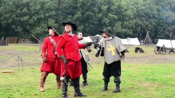 Knights duel - soldiers fight each other - military - battleground (army forces)