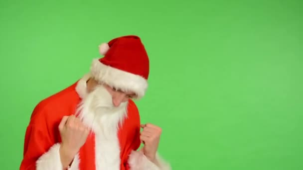 Santa claus - green screen - studio - santa claus rejoices (happy)