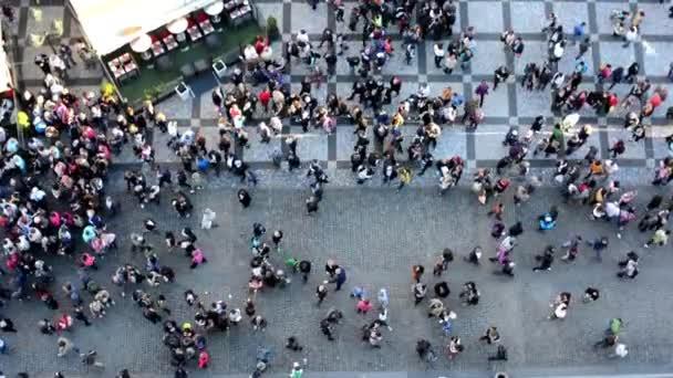People walking on the street - aerial