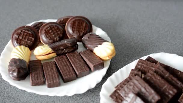 Soubory cookie (sladkosti) - čokoládové oplatky