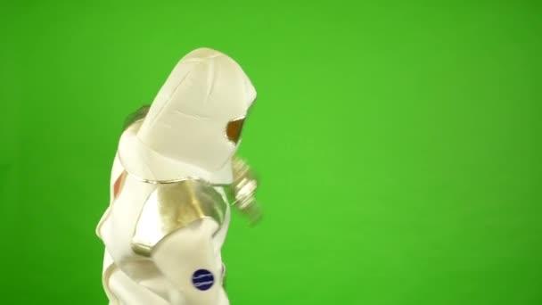 Űrhajós azt mutatja, a világegyetem - zöld képernyő
