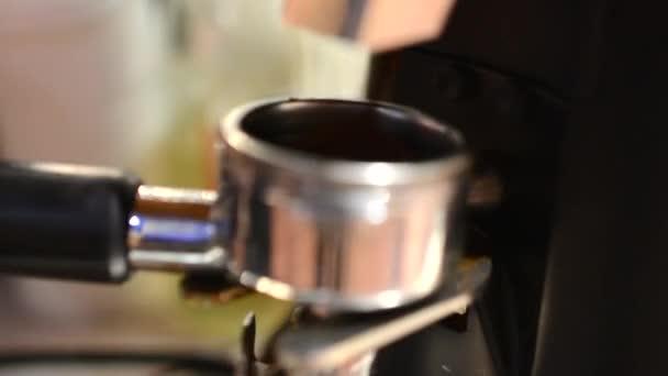 Barista prepares coffee