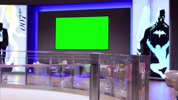 TV(television) - green screen in the lobby of the cinema