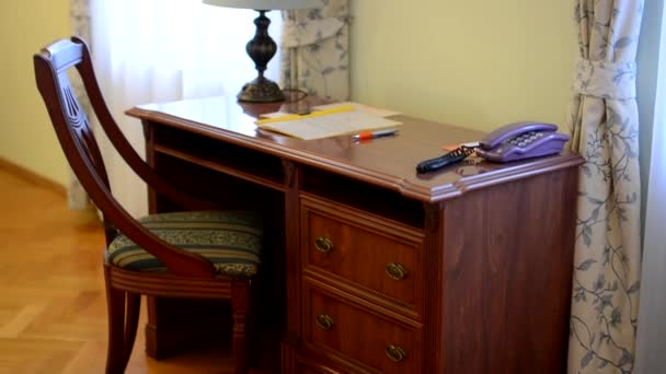 Desk in hotel room - chair