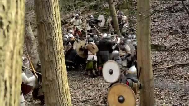 Medieval battle - war - soldiers fight