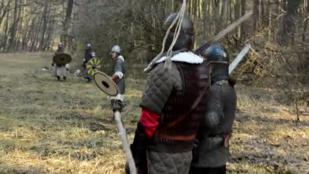 Medieval battle - war - soldiers wait