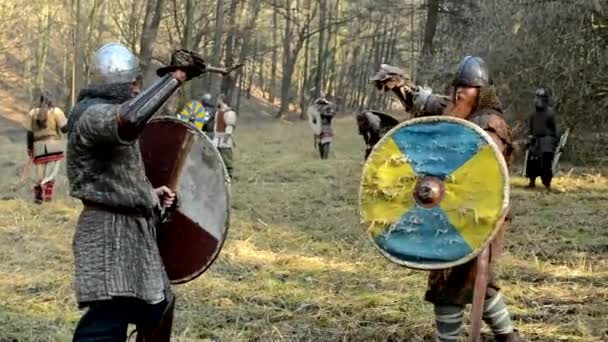 Medieval battle - war - soldiers fight (duel)