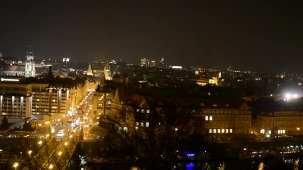 Noční město (Praha, Česká republika) - panorama