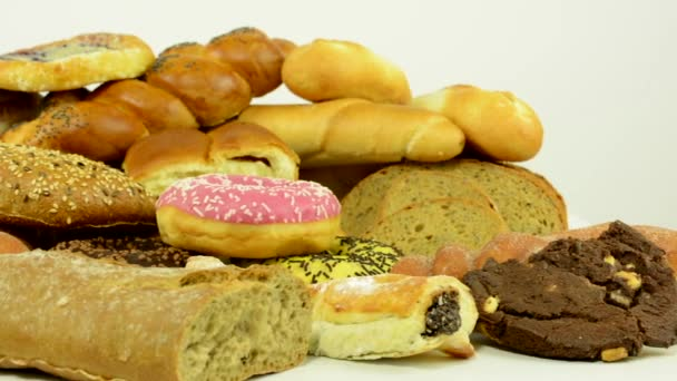 bakery goods (pastry and cakes) - white background studio