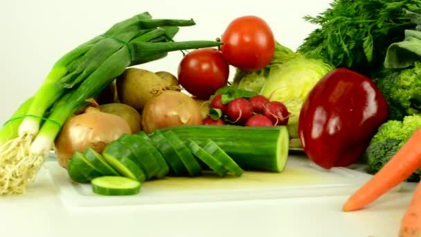 zöldség-fehér háttér Studio