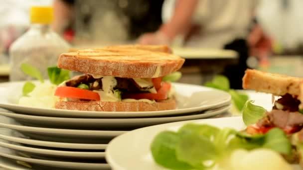 sandwich on plate - refocused