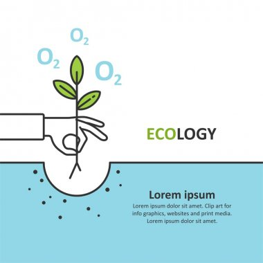 Ecology. Ecological. Design element for info graphic, websites and print media. Vector illustration.