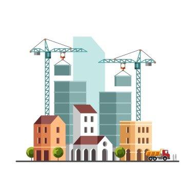 Construction site. Under construction. Building business. Construction industry.