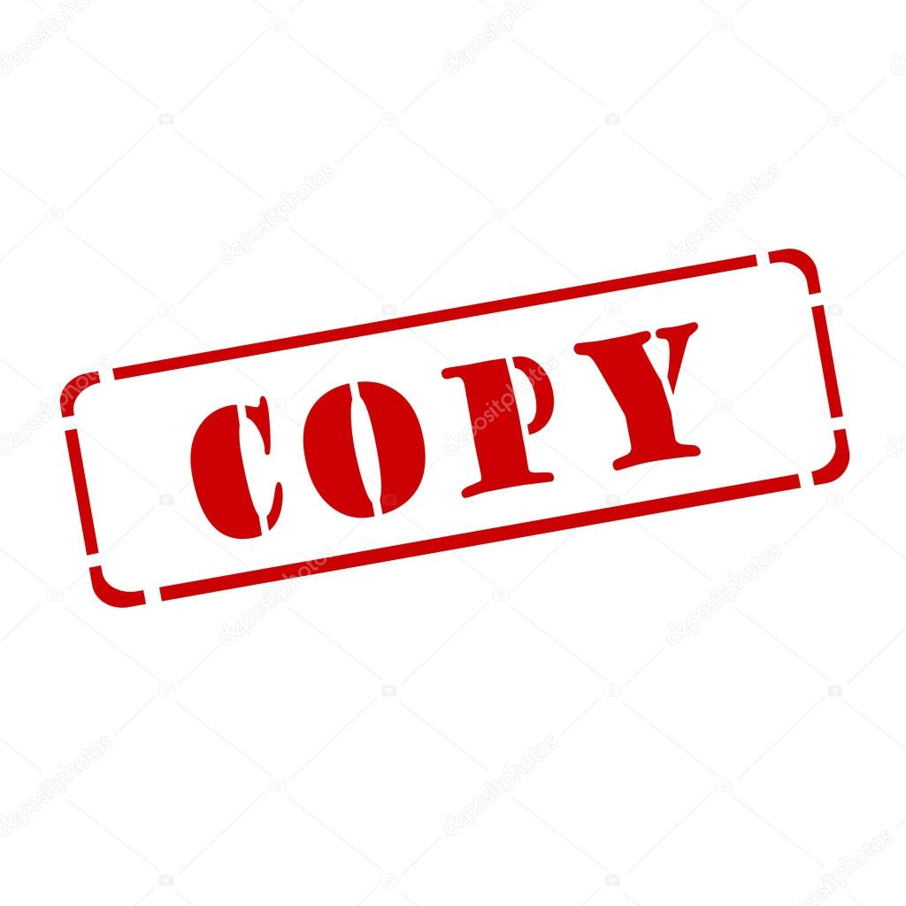 A Red Stamp Copy On White Background Photo By