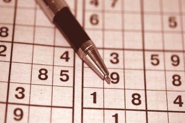 Sudoku game and a ball pen