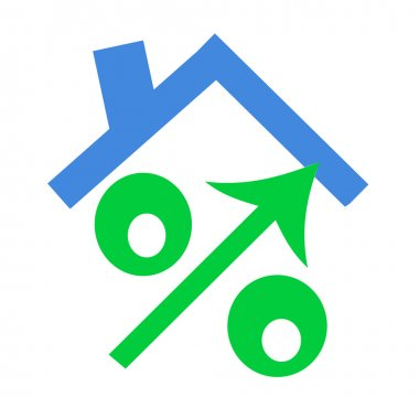 The green sign of percent