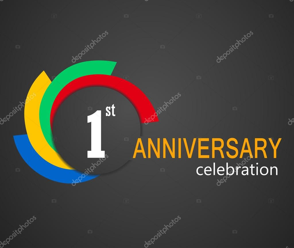 ᐈ happy first anniversary stock images royalty free 1st anniversary download on depositphotos https depositphotos com 109105698 stock illustration 1st anniversary celebration background 1 html