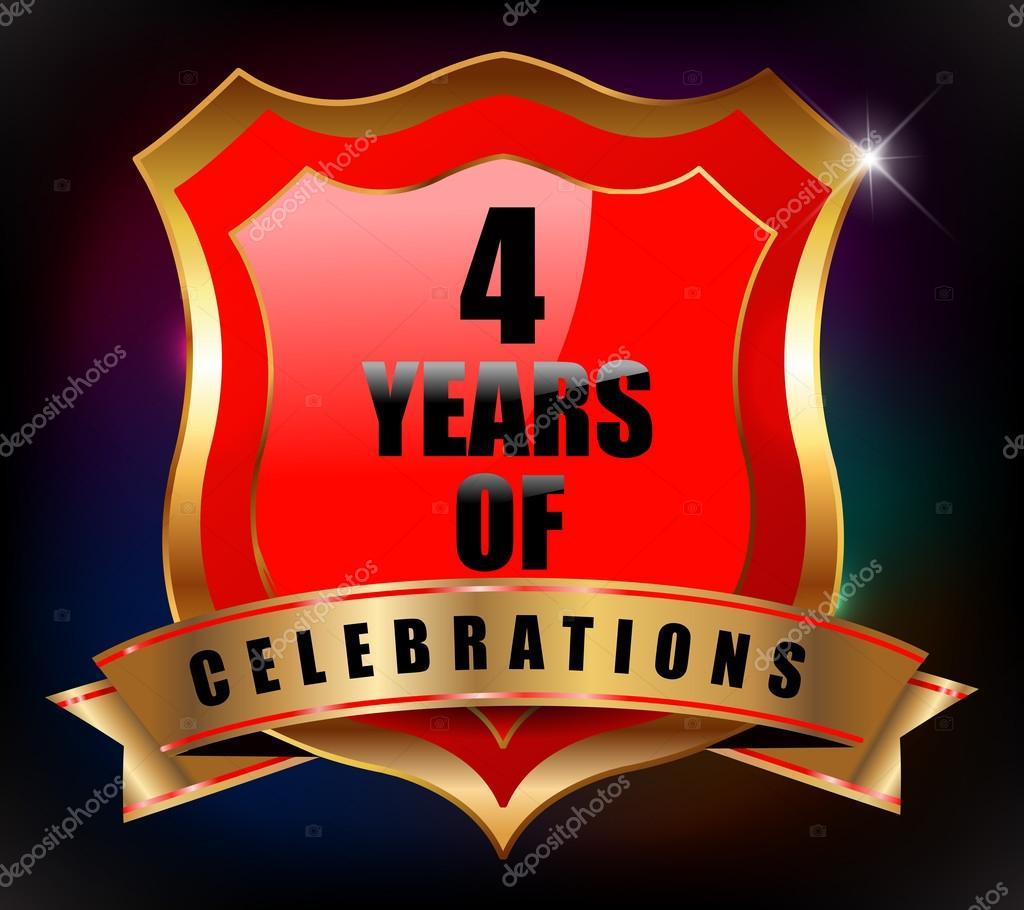 Áˆ 4th Year Anniversary Stock Images Royalty Free 4 Years Anniversary Pictures Download On Depositphotos