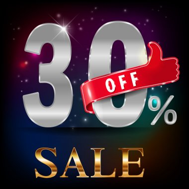 30 off, sale discount hot sale with special offer- vector EPS10