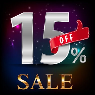 15 off, sale discount hot sale with special offer- vector EPS10