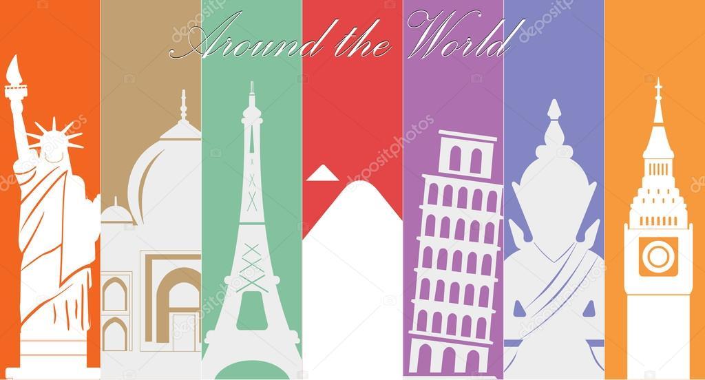 Vector maravillas del mundo maravillas del mundo for Fondos de pantalla 7 maravillas del mundo