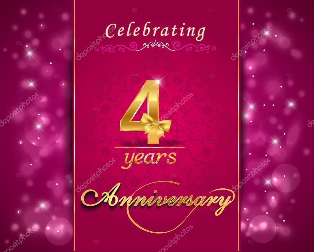 Year anniversary celebration sparkling card th