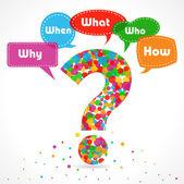 Fotografia Schema di domanda di che cosa quando dove perché chi come per radice analisi delle cause