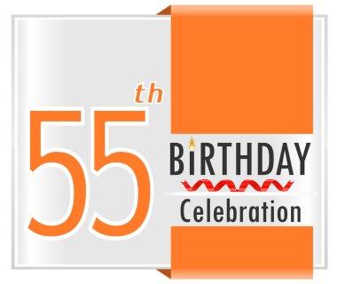 55 year Happy Birthday Card