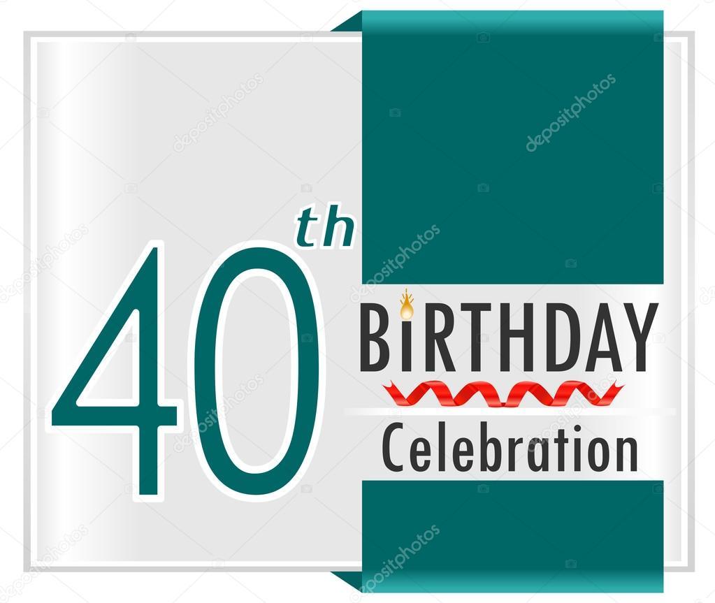 födelsedagskort 40 40 år födelsedagskort — Stock Vektor © atulvermabhai #59445071 födelsedagskort 40