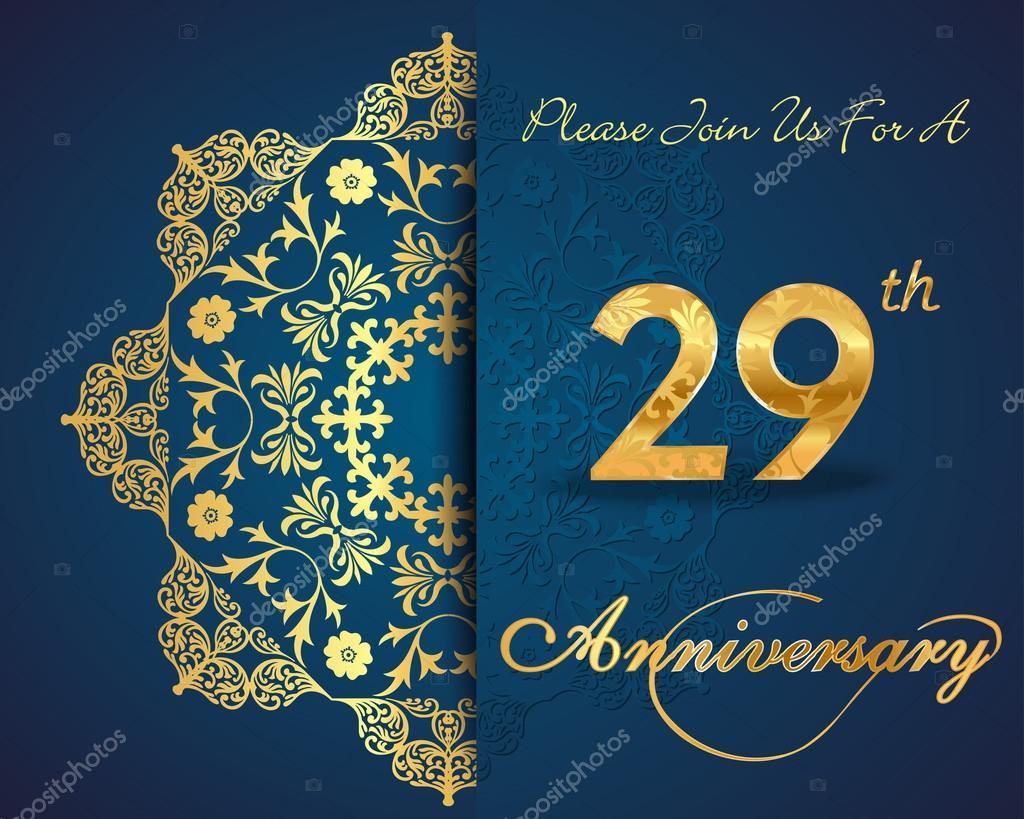Anniversario Di Matrimonio 33 Anni.29 Year Anniversary Stock Vector C Atulvermabhai 59445307
