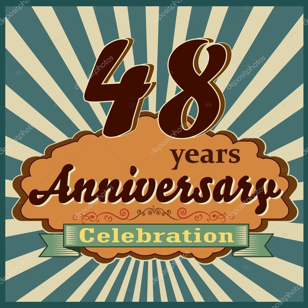 48 Jaar Verjaardag Stockvector C Atulvermabhai 59445827