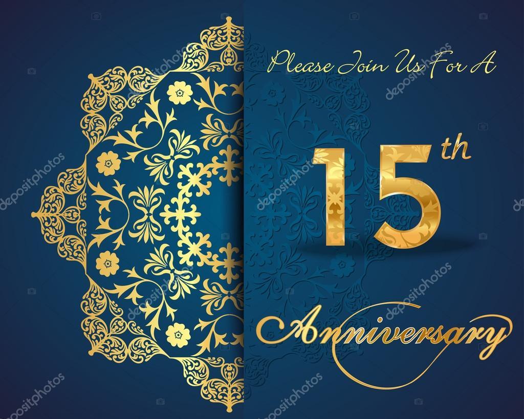 15 aniversario vector de stock atulvermabhai 59446673