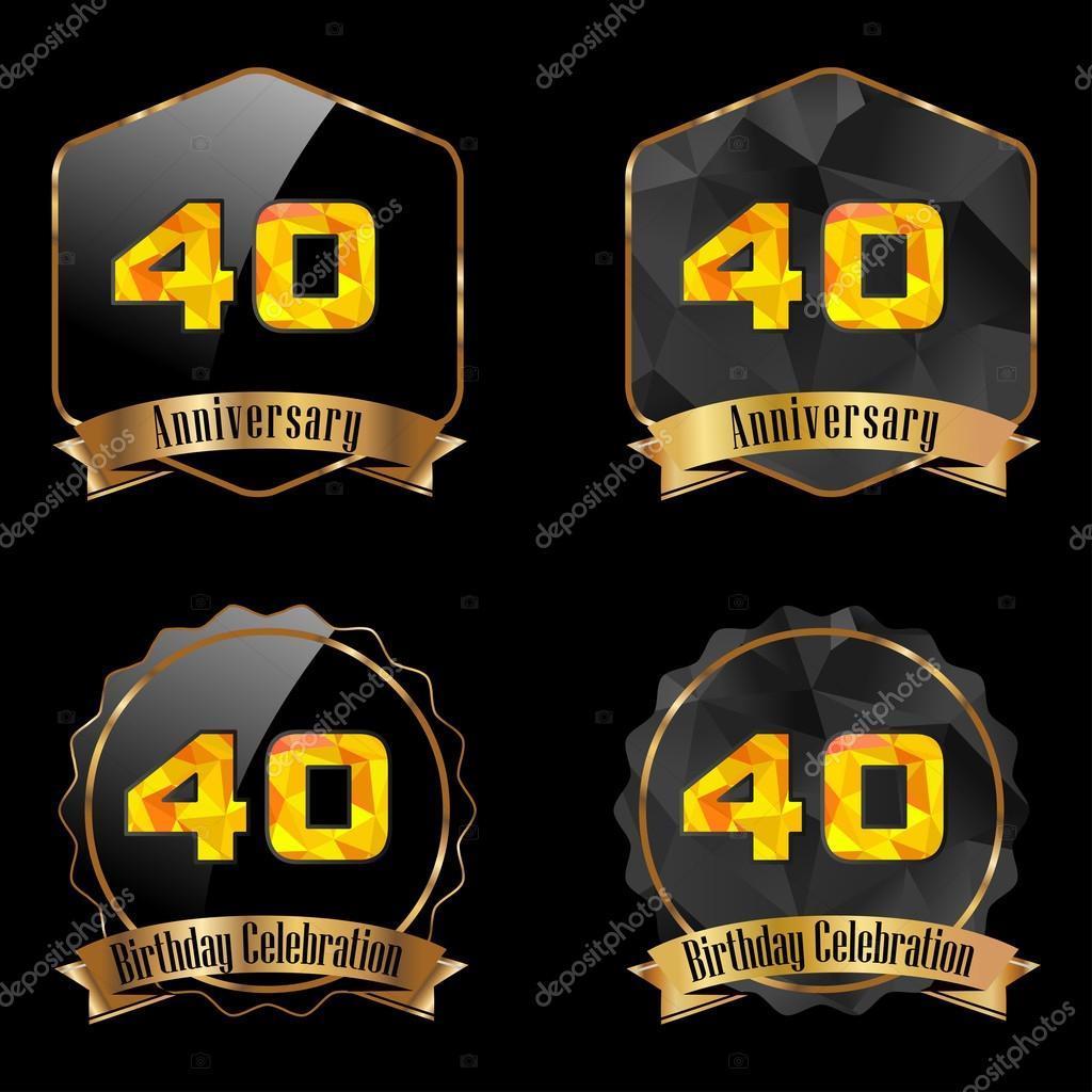 oslava 40 narozenin Oslava narozenin 40 let — Stock Vektor © atulvermabhai #59446949 oslava 40 narozenin