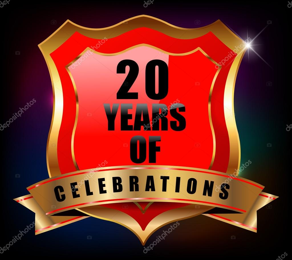 20 Years Anniversary Stock Vector Atulvermabhai 59446985