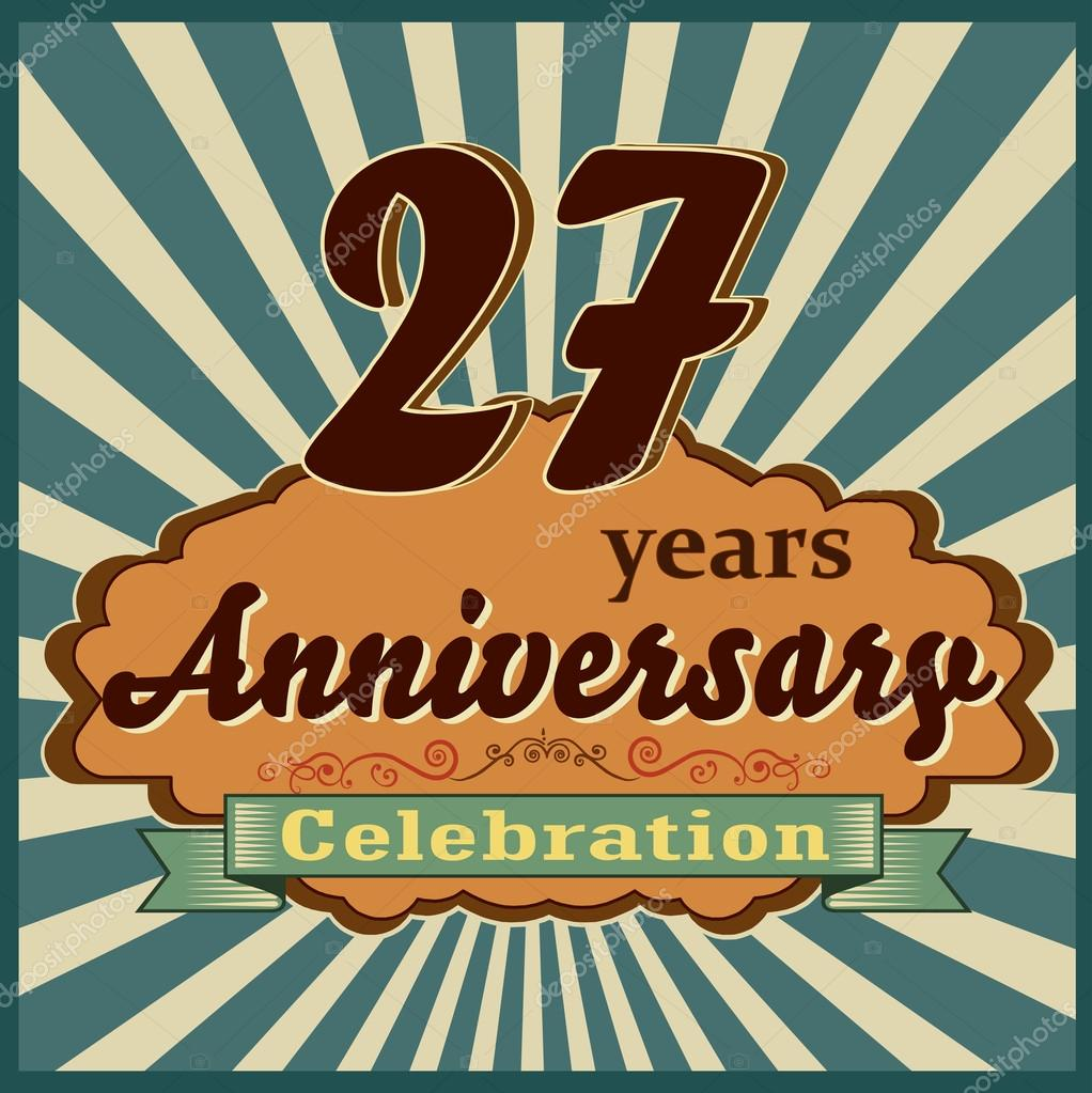 27 Jaar Verjaardag Stockvector C Atulvermabhai 59448147